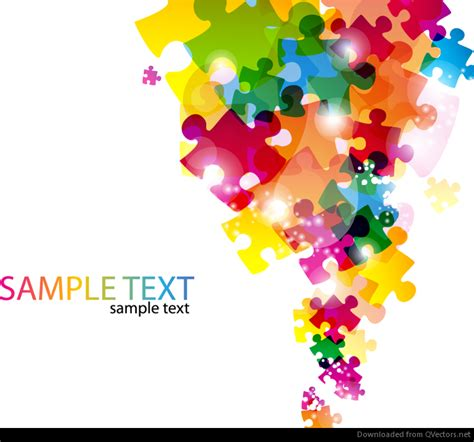 colorful puzzle pieces colorful puzzle pieces backdrop free vector
