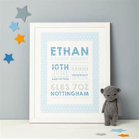 personalised birth details print by thispaperbook