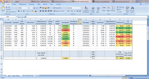 trading log spreadsheet epsilon financial epsilon