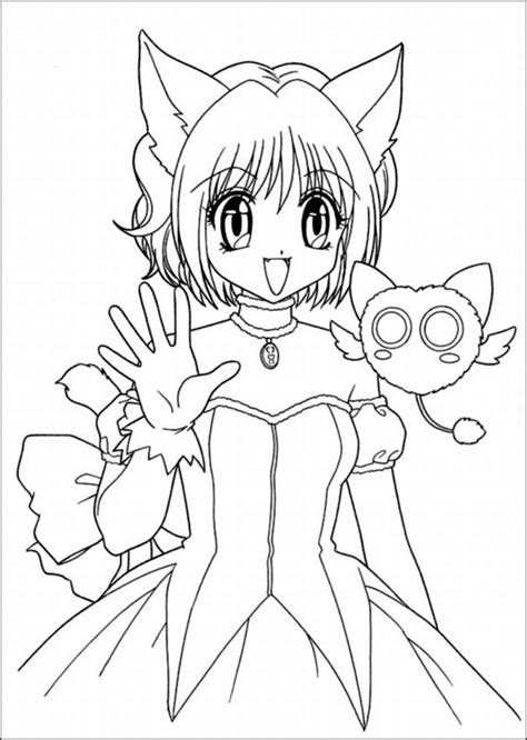 manga girl coloring page anime color pages coloring home