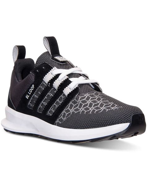 Sandal Pria Goodness Loop Black Goodness Footwear Sendal Pria lyst adidas s originals sl loop runner casual sneakers from finish line in black for