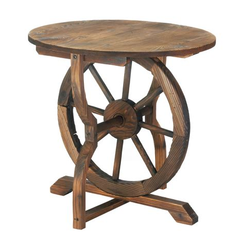 wagon wheel table wholesale at koehler home decor wagon wheel bench ebay
