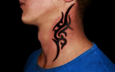 tribal neck tattoos for men 63 stunning tribal neck tattoos
