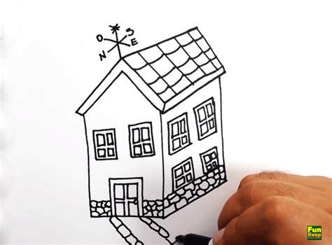 tutorial menggambar untuk anak sd cara menggambar vila sederhana untuk anak sd sekolah