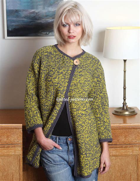 knitted coats for craft passions chunky coat free knitting link here