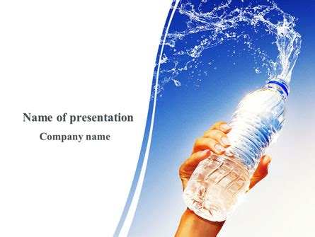 Mineral Water Powerpoint Template Backgrounds 08260 Poweredtemplate Com Microsoft Powerpoint Templates Water