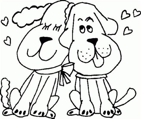 imagenes de amor de animales animados colorear perros enamorados