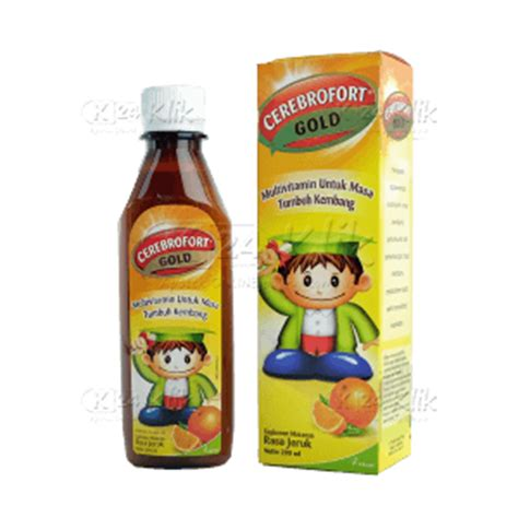 Vitamin Elkana Cl jual beli cerebrofort gold jeruk 200ml k24klik