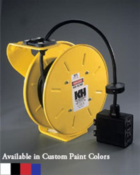 customized retractable power cord reels by k h industries