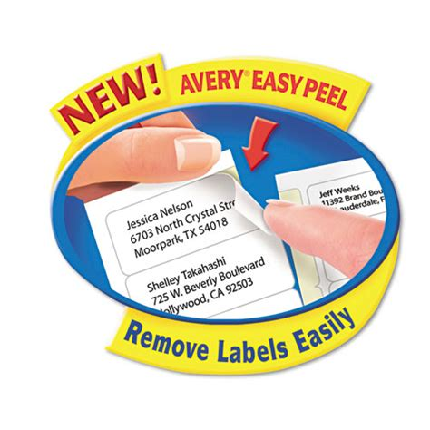 Avery Easy Peel Labels Template 5160 by Avery 174 Easy Peel Laser Address Labels 1 X 2 5 8 White