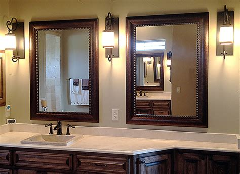 framed bathroom mirrors rustic wood framed mirror large