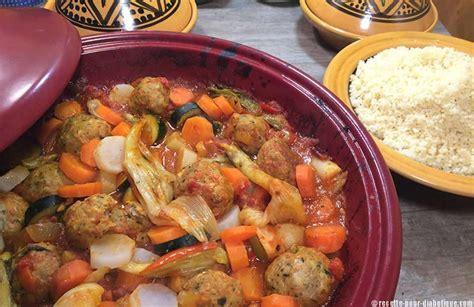 cuisine pour diab騁ique tajine aux boulettes de merlan
