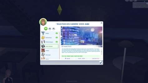 actor sims 4 actor actress career by xthelittlecreator at mod the sims