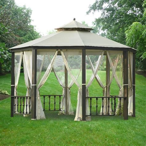 canopy gazebo patio gazebos and canopies dc america hexagon gazebo with