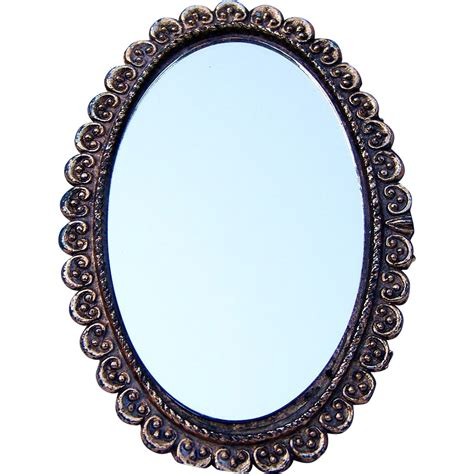 Ornate Vanity Mirror Beautiful 1930 40 S Fancy Amp Ornate Gold Decor 2 Sided Hand