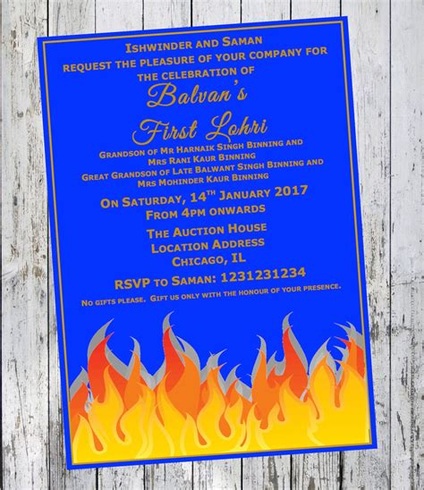 Lohri Invitation First Lohri Baby Invite Diy Printable Lohri Invitation Templates