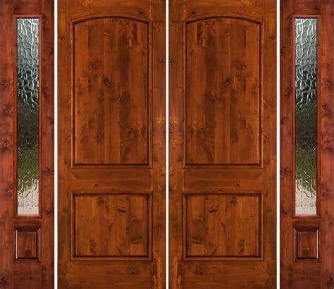 rustic double doors  sidelights solid wood double doors