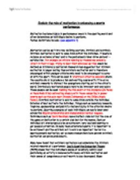 thesis about motivation in education essay about motivation