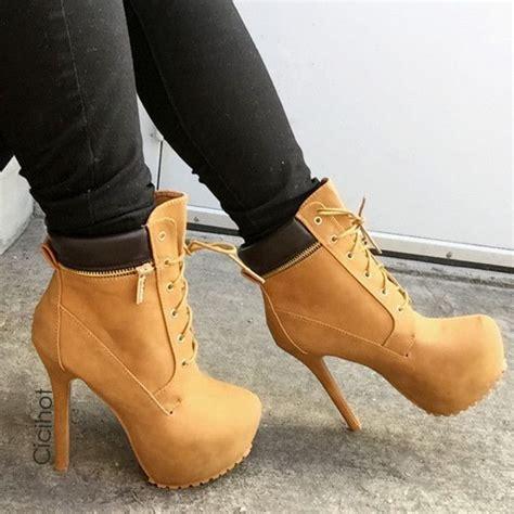 high heel timberland booties timberland stilettos shoes high heels boots timberland