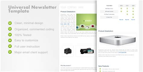 wordpress email layout universalnewsletter clean email template by bami