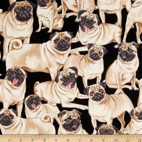 pug fabric timeless treasures flannel pugs pug discount designer fabric fabric
