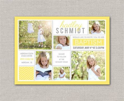 Lds Baptism Card Template by Lds Baptism Invitation Hadley Www Mormonlink Lds