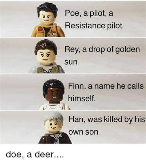 poe a pilot a resistance pilot rey a drop of golden sun