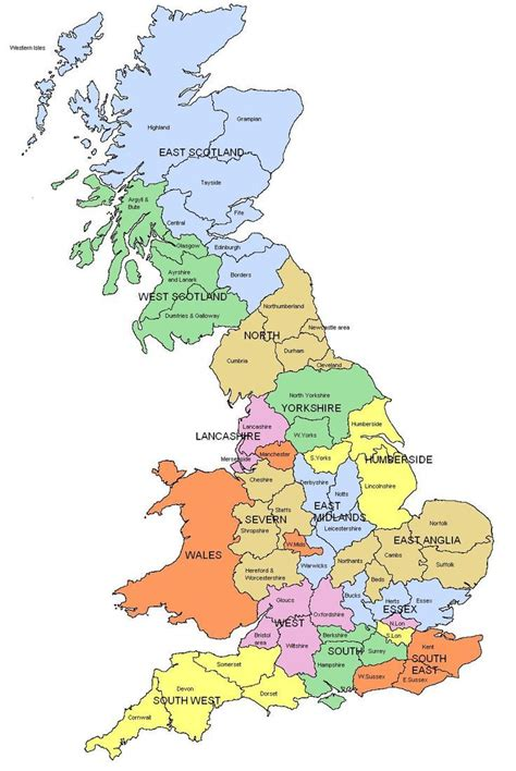 map uk and wales 25 best ideas about map of great britain on