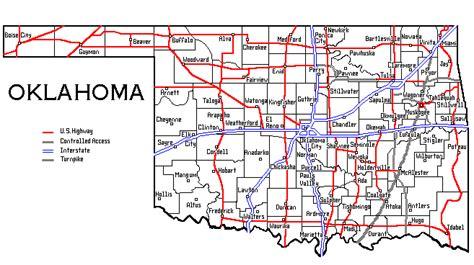map oklahoma cities towns oklahoma map