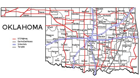 map of oklahoma highways oklahoma map