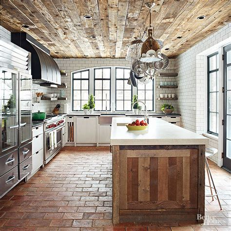 Kitchen Wood Ceiling by Bhg Style Spotters