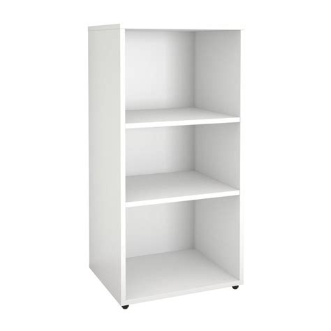shop nexera blvd white 3 shelf bookcase at lowes