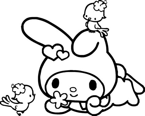 coloring page my melody coloring pages learn to coloring