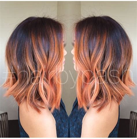 color placement red brown red balayage highlights hair pinterest more red