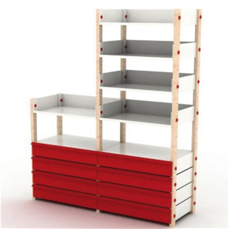 build  standing shelves plans