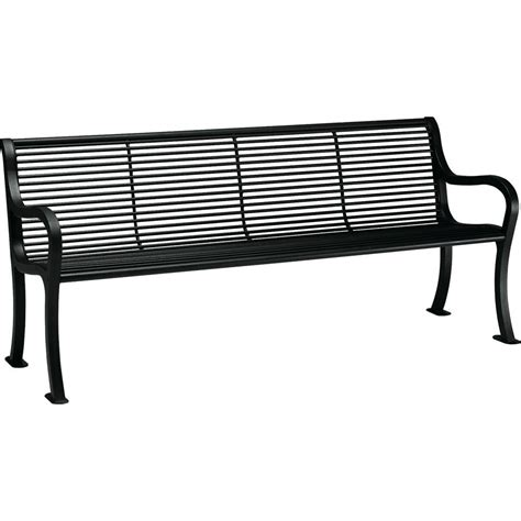 black porch bench ivy terrace 60 in black and mahogany patio bench