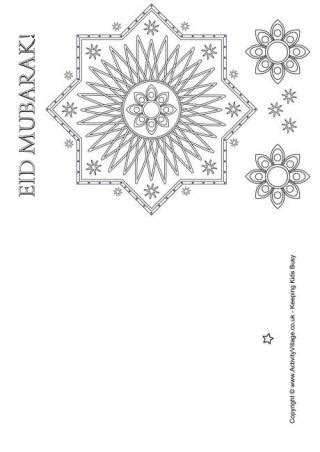 eid card templates ks1 eid colouring pages
