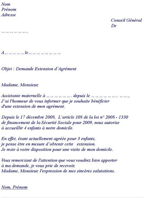 Exemple De Lettre De Demande D Agrément Pour Adoption Modele Lettre Extension