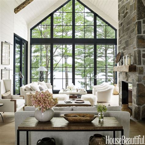 modern rustic homes home tour anne hepfer s rustic modern lake house lakes