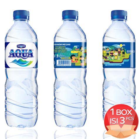 Aqua Botol 600 limited special aqua temukanindonesiamu mineral water