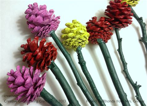 how to make pine cone flowers flower power pinterest pinecone roses from rhonda at mrs greene creative green