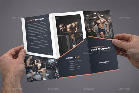 brochure gym tri fold  artbart graphicriver