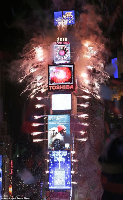 new year 2018 fireworks nyc drops in frigid times square to 2018