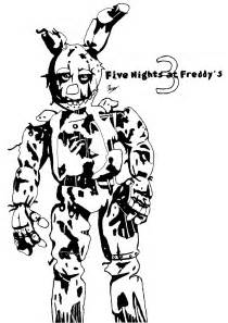 Freddys Nights At Five Spring Coloring Pages Trap Sketch Page sketch template