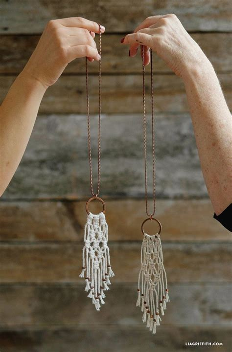 Easy Macrame - simple diy macrame necklace macrame necklace necklace
