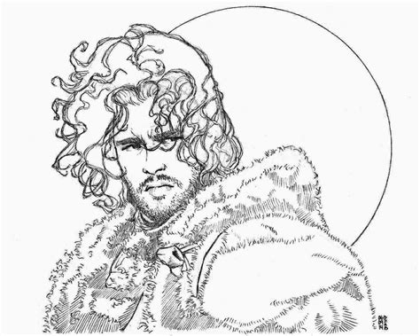 thrones coloring book colored pages you nothing jon snow by phyronious on deviantart