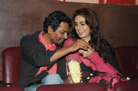 Huma Qureshi with Nawazuddin Siddiqui watching Dilwale ...