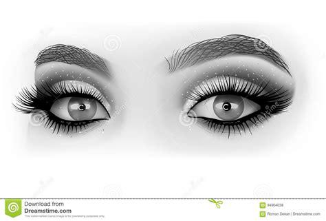 imagenes en blanco y negro de ojos maquillaje blanco y negro de los ojos ilustraci 243 n del