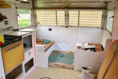 travel trailer restoration ideas 1972 frolic cer restoration project the of caking
