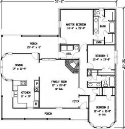 Farmhouse Floorplans by Plan 1929gt Simple Country Farmhouse Plan Country Farm